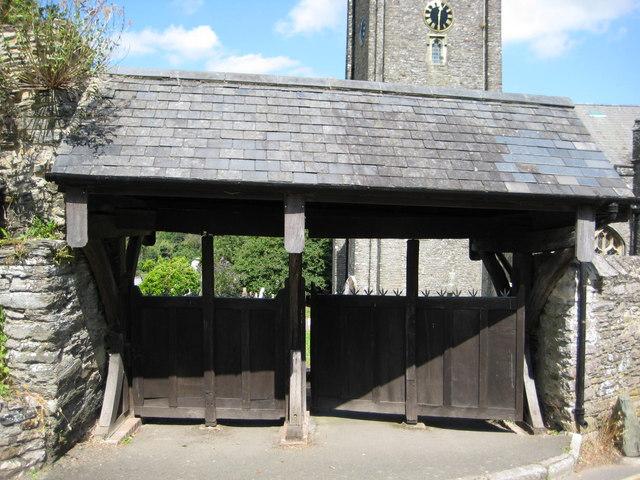 Revolving Lych gates at St George's Church Dittisham