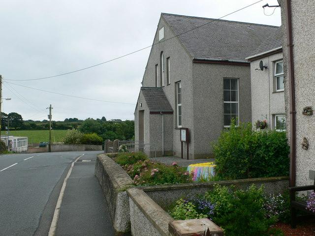 Bodffordd Village, between Llangefni & Holyhead - printed ...