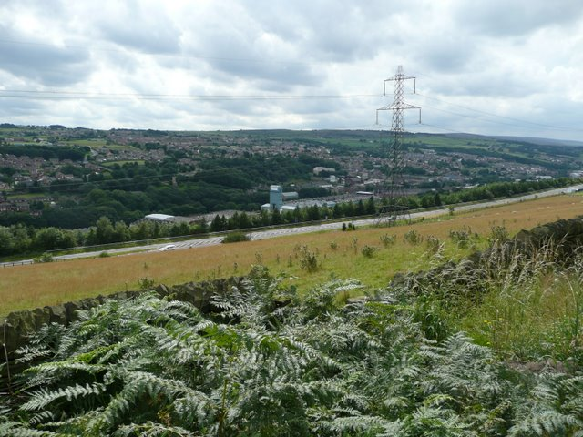 View towards Stocksbridge Steelworks