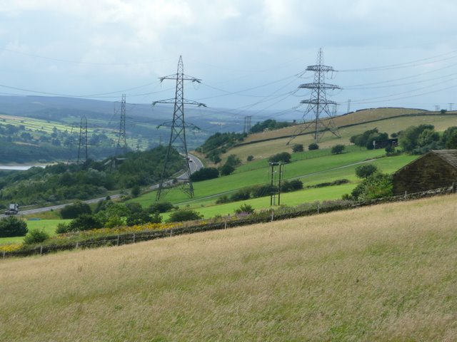 View towards Langsett along the A619 Stocksbridge Bypass