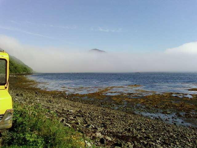 Misty morning,Portree Bay