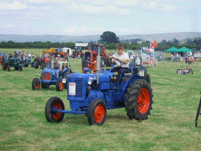 Vintage tractors display