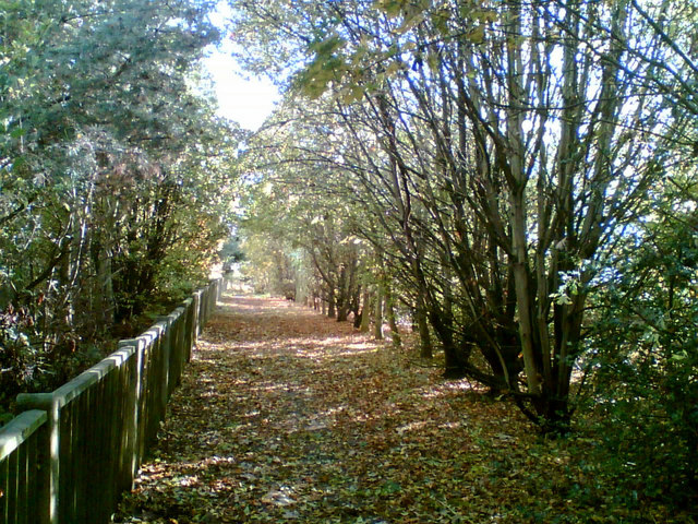 Path from Church Road to the Connahs Quay Road