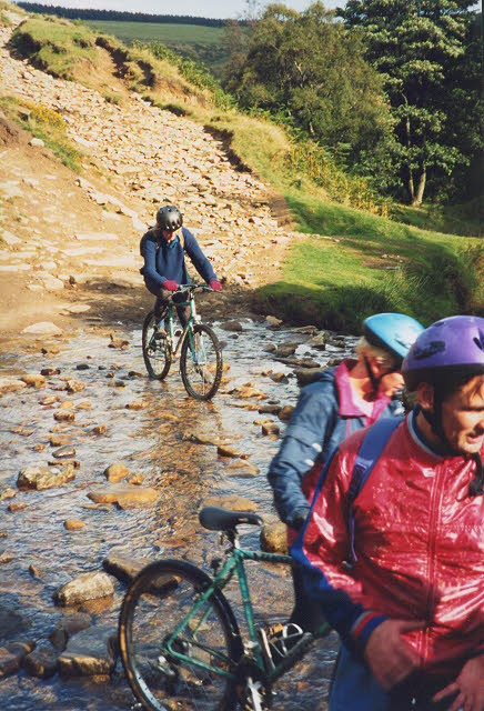 Mountain biking in Jagger's Clough
