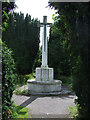TL0847 : Great War memorial in the cemetery of St Mary's church, Cardington in Bedfordshire by John Apperley
