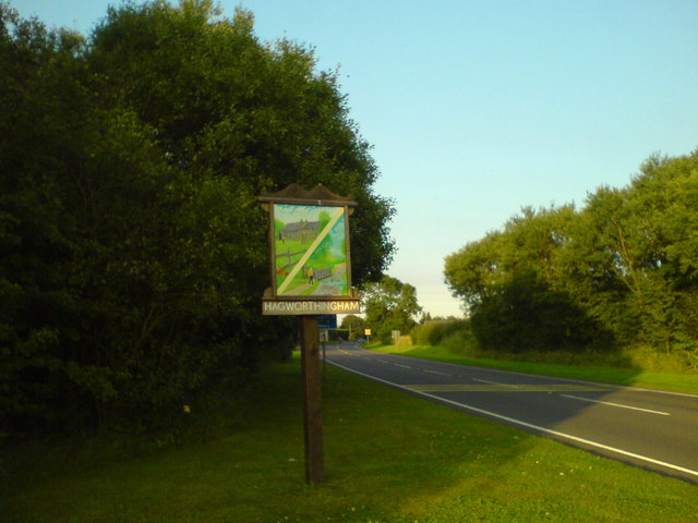 Village sign, west of Hagworthingham