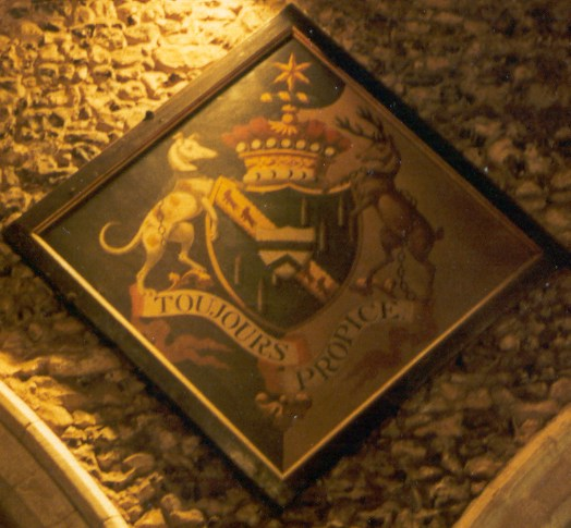 The hatchment of Thomas Dawson, Lord Cremorne, in St Giles' church