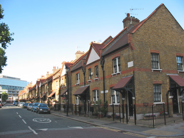Historic housing in Ufford Street
