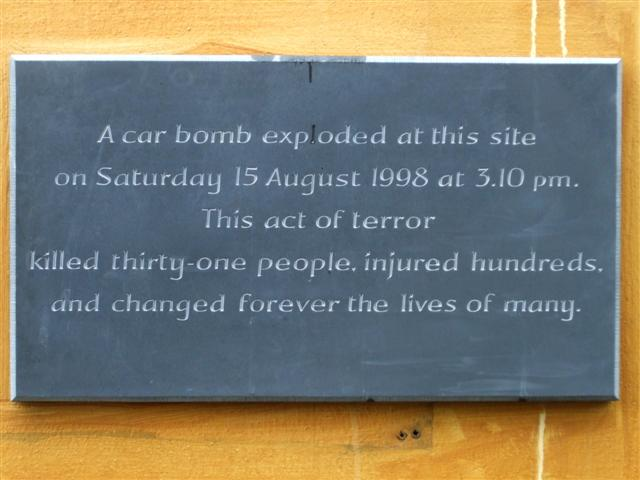 Plaque, Omagh bomb site