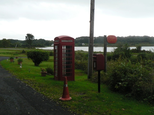 Lochdon: postbox № PA64 143 and phone