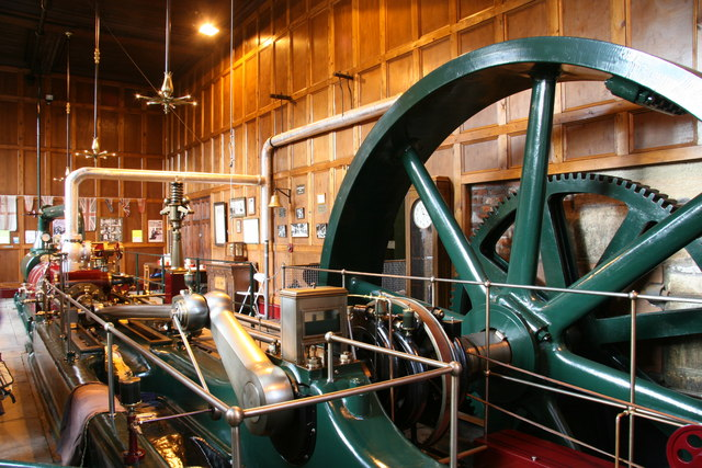 Restored Mill engine, Nortonthorpe Mills