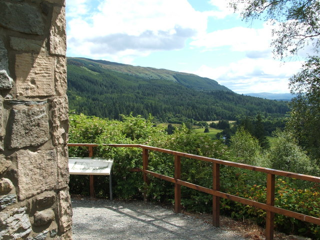 The viewpoint in Benmore Botanic Garden