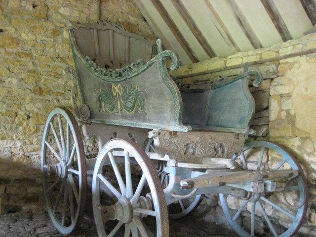 Ornate coach at Snowshill Manor