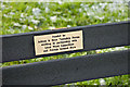 SD5600 : Bench plaque by Dave Green
