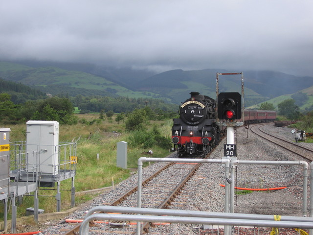 Cambrian Line east of Cyffordd Dyfi / Dovey Junction station