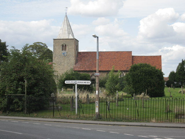 Church of St Nicholas with signpost