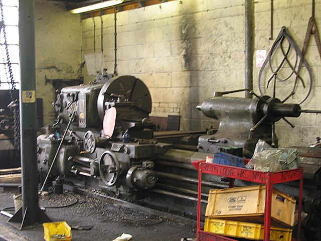 Wheel lathe, Boston Lodge works, Ffestiniog Railway