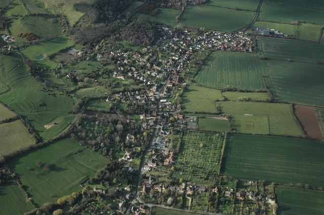 Ashton under Hill from the air