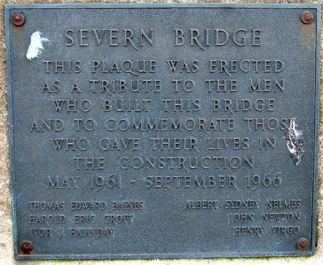 Severn Bridge plaque