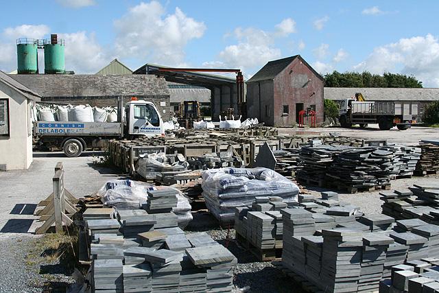 St Teath: Delabole slate yard