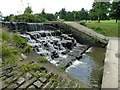 SE2707 : The weir on Cascade Lake, Cannon Hall by Wendy North