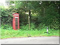 ST3902 : Blackdown: phone box and footpath by Chris Downer