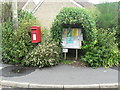 ST4104 : Drimpton: postbox № DT8 106 and covered noticeboard by Chris Downer