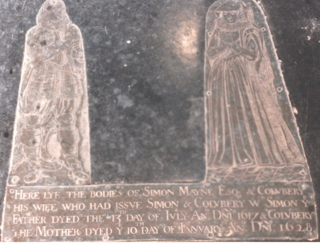 Dinton church memorial 1628