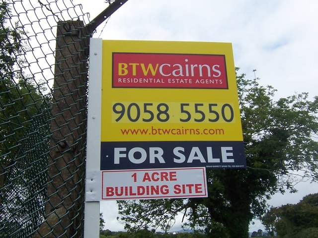 """For Sale"" sign."