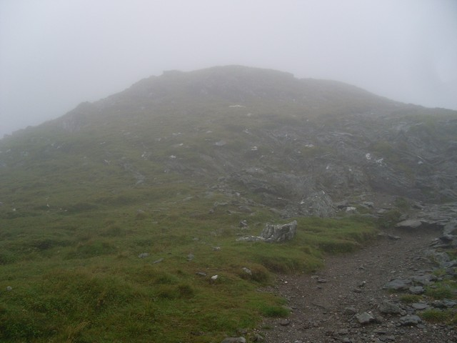 Looking to the summit of Beinn Ghlas