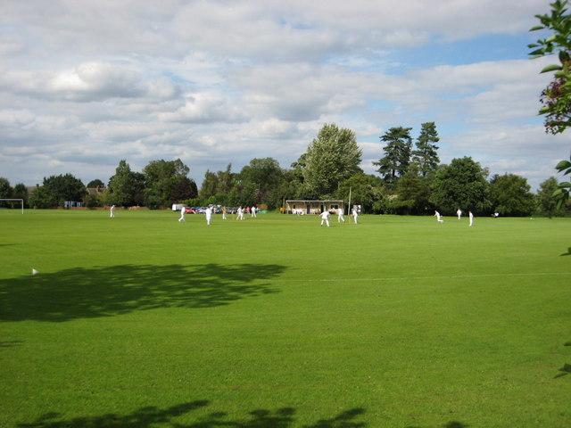 Cricket match at Upper Wardington