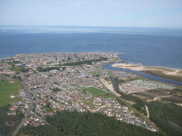Lossiemouth Aerial Shot