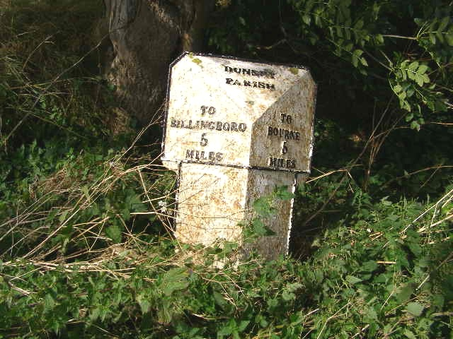 Milestone, just northeast of Dunsby