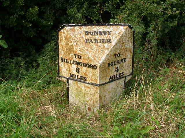 Milestone, just southwest of Dunsby