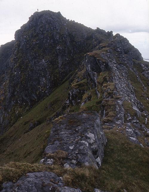 The north-west ridge of Ben More