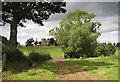 SO7528 : Approaching the church at Pauntley : Week 34