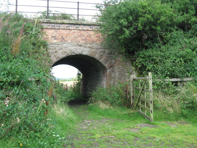 Railway bridge on disused line south of Molesden, Northumberland
