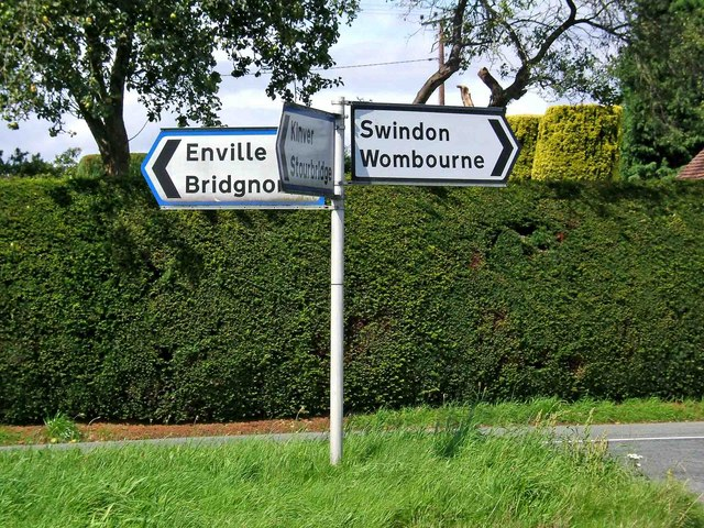 road signpost at junction of minor roads p l chadwick cc by sa