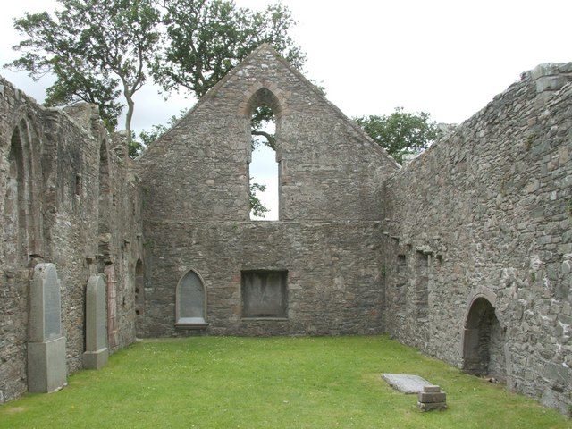 Whithorn Priory - interior of the nave