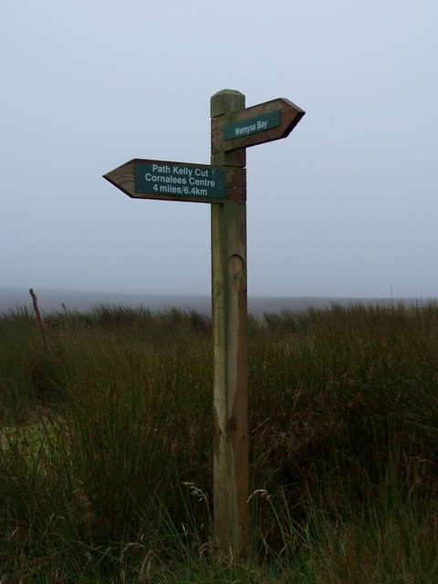 Guidepost at Kelly Reservoir