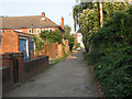 TQ3571 : Boundary footpath, Trewsbury Road by Stephen Craven