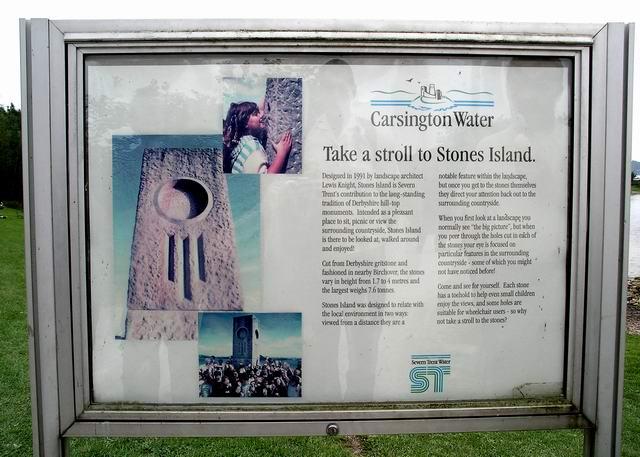 Information board, Stones Island