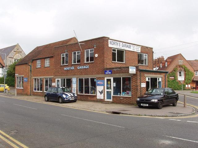 Motor repair garage in Lane End High Street