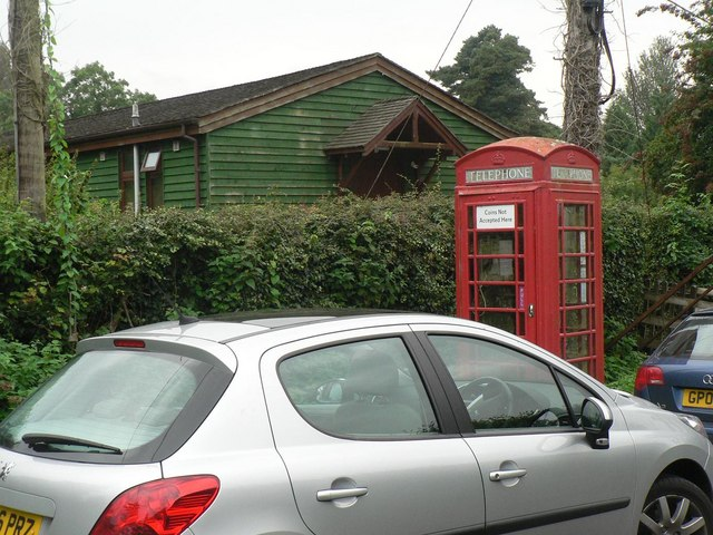 Edmondsham: phone box and village hall