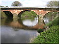 SJ4315 : River Severn, Montford Road  bridge by kevin skidmore