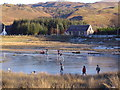 NG8119 : Ice skating on the Glenelg peat cuttings by Ian Selmes
