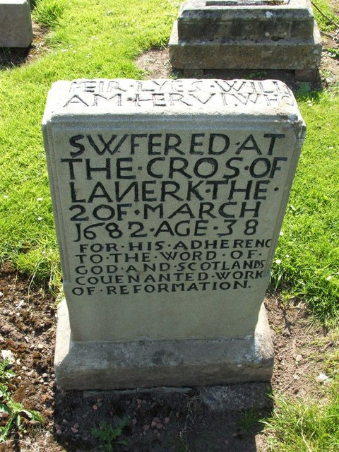 Gravestone of William Harvey, a Covenanter