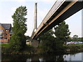 SJ4912 : River Severn, Frankwell footbridge by kevin skidmore