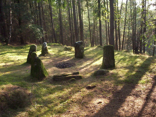Stone Circle in Glassel Dam Wood
