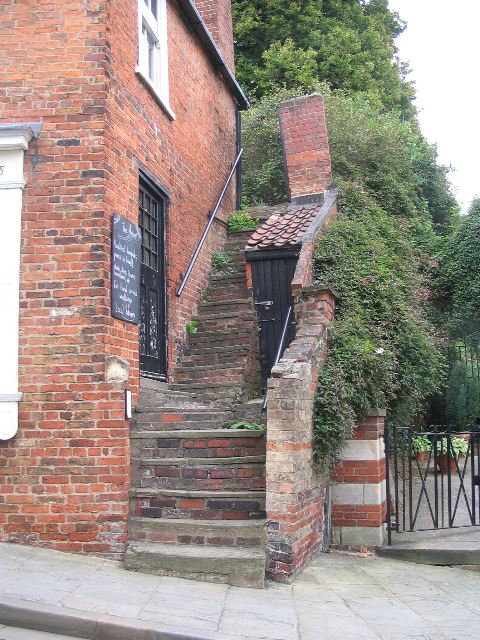 Steep steps by Steep Hill, Lincoln